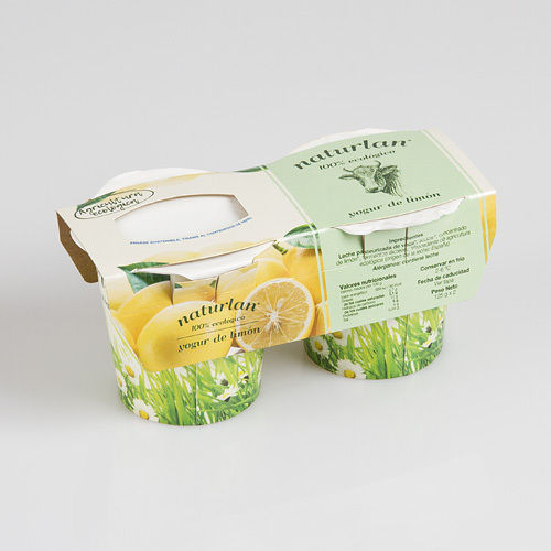 YOGURT NATURAL CON LIMON 2x125gr ECOLOGICO