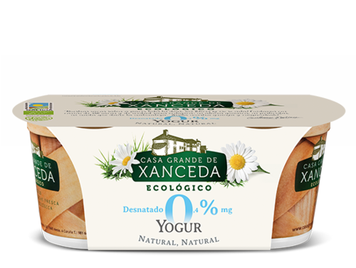 YOGURT NATURAL DESNATADO 0% ECOLOGICO 2 X 125 GR
